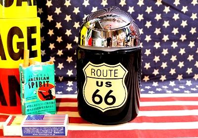ルート66灰皿 ROUTE66灰皿 ROUTE66ドーム灰皿  アメリカ雑貨屋 SUNBRIDGE