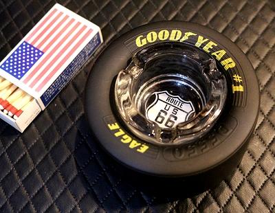 ROUTE66灰皿 グッドイヤータイヤ灰皿 グッドイヤー灰皿タイヤ灰皿通販 アメリカ雑貨通販 SUNBRIDGE サンブリッヂ
