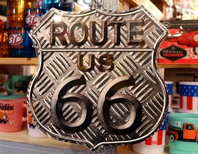 ルート66ハイウェイメタルサイン ルート66看板 ROUTE66 アメリカ雑貨屋 サンブリッヂ