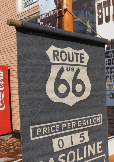 ルート66ロングタペストリー ROUTE66タペストリー アンティーク壁掛け アメリカ雑貨屋 サンブリッヂ アメリカン雑貨通販