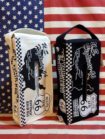 ルート66ティッシュケース ROUTE66ティッシュカバー ルート66ティッシュカバー  アメリカ雑貨屋 サンブリッヂ