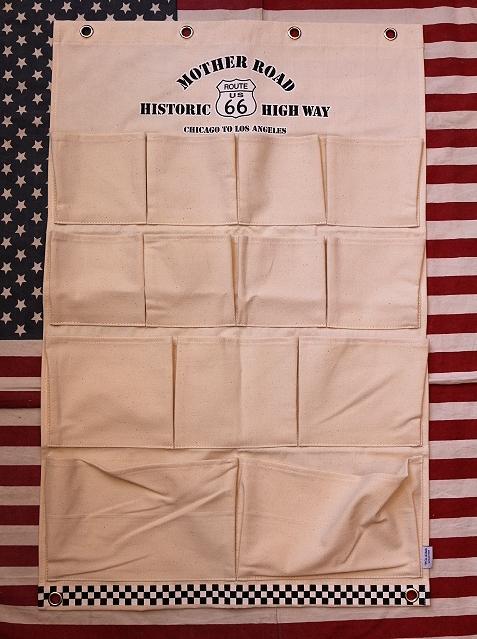ルート66ウォールポケット ROUTE66 コットン100% アメリカ雑貨屋 サンブリッヂ