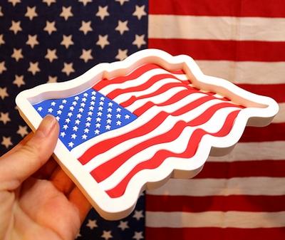 ラバートレイ星条旗 アメリカフラッグマルチトレイ アメリカ柄雑貨通販 アメリカ雑貨通販 サンブリッヂ  SUNBRIDGE