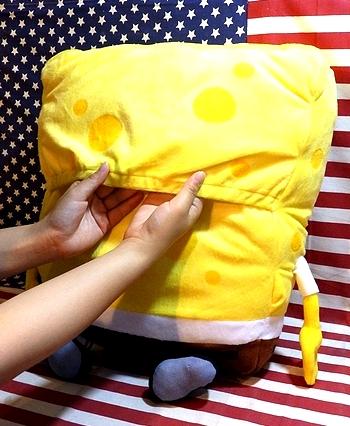 スポンジボブ スポンジボブクッション イスに装着クッション アメキャラ アメリカ雑貨屋 サンブリッヂ