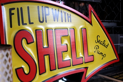 シェル看板 シェル石油看板 矢印看板 アメリカン看板通販 サンブリッヂ SUNBRIDGE