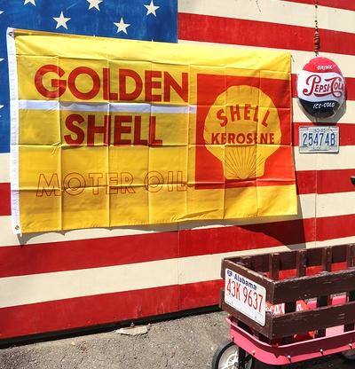 シェルフラッグ シェルタペストリー SHELL雑貨通販 アメリカ雑貨通販 岩手雑貨屋 サンブリッヂ