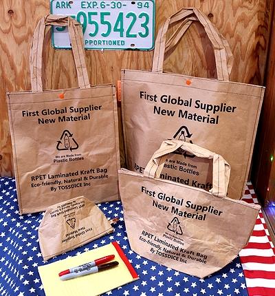トスダイスポーチ トスダイスバッグ リサイクルバッグ リサイクルペーパーバッグ ミリタリーバッグ 雑貨通販 サンブリッヂ