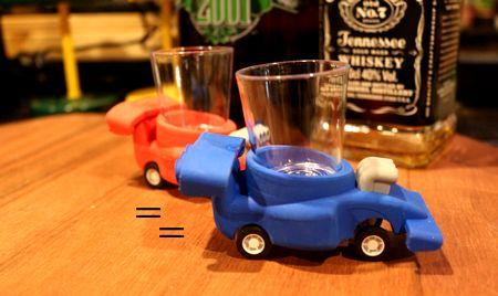 ショットグラスセット カーショットグラス プルバックカー レーシングチェイサー 面白グラス アメリカ雑貨屋 サンブリッヂ