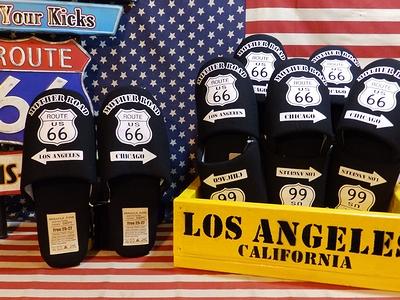 ルート66スリッパ ルート66ルームシューズ ルート66インテリア アメリカンスリッパ アメリカ雑貨屋 サンブリッヂ