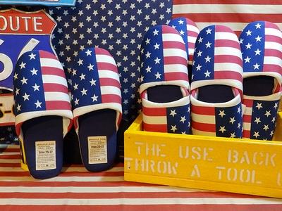 アメリカ柄スリッパ 星条旗スリッパ アメリカ柄インテリア アメリカンスリッパ アメリカ雑貨屋 サンブリッヂ