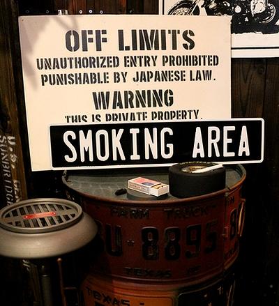喫煙看板 喫煙所看板 タバコ看板 スモーキングエリア看板 ストリートサインアメリカ雑貨通販 SUNBRIDGE サンブリッヂ