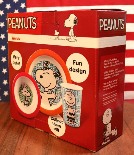 スヌーピー食器セット WORDS ピーナッツ アメリカ 輸入 アメリカ雑貨 アメリカ雑貨屋 通販 サンブリッヂ