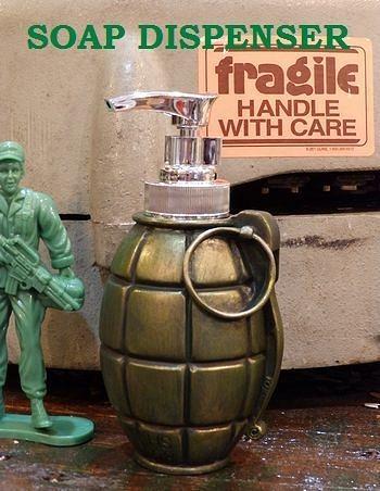 手榴弾ソープディスペンサー 液体ソープボトル ミリタリー雑貨 ARMY アメリカ雑貨屋 サンブリッヂ 通販