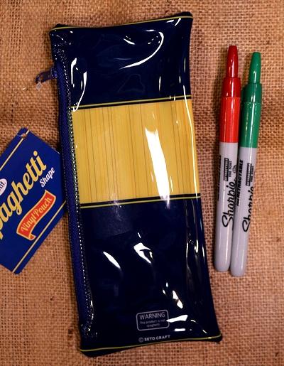 スパゲッティポーチ スパゲッティペンケース パスタポーチ アメリカ雑貨通販 アメリカ雑貨屋 サンブリッヂ 通販