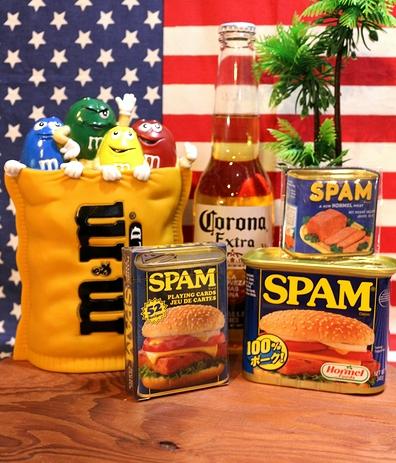 スパムトランプ スパム缶 スパム料理レシピ アメリカンキャンプ アメリカ雑貨通販  サンブリッヂ