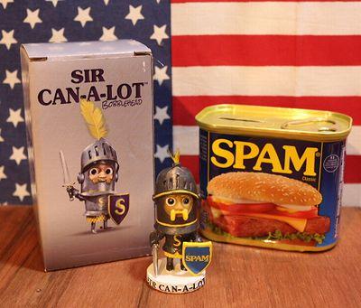スパムバブルヘッド フィギュア 首振り人形 SIRCAN-A-LOT  SPAM アメリカ雑貨屋 サンブリッヂ