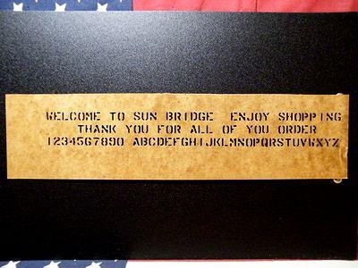 ステンシル 1/4 プレート 打ち出し スプレー アメリカ雑貨 SUNBRIDGE サンブリッヂ 岩手 矢巾 すてんしる マシーン