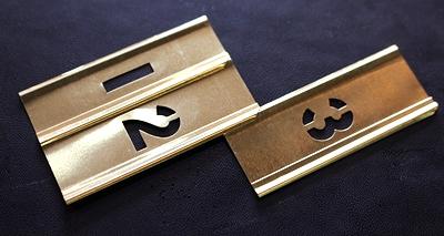 メタルステンシルプレート1/2インチ ステンシルシート Hanson社 アメリカ雑貨屋 サンブリッヂ