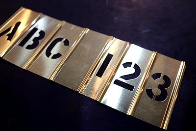 メタルステンシルプレート1インチ ステンシルシート Hanson社 アメリカ雑貨屋 サンブリッヂ