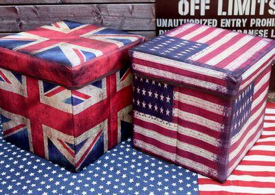 スツール 折りたたみスツール イギリスソファ イギリス柄いす アメリカ雑貨 イギリス雑貨通販 サンブリッヂ