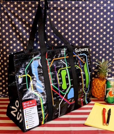 ニューヨーク地下鉄マップバッグ ビニールバッグ ビーチバッグ アメリカ雑貨屋 SUNBRIDGE