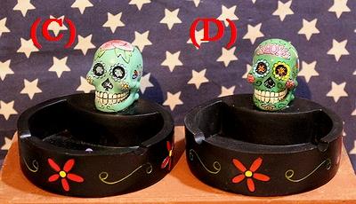 メキシカンスカル灰皿 シュガースカルラウンドトレイ SUGAR SUKULL メキシコ骸骨 アメリカ雑貨屋 サンブリッヂ 通販