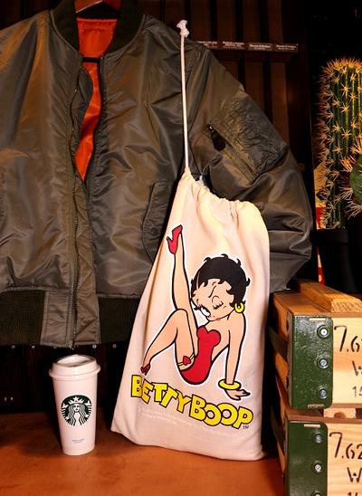 ベティーブープスウェット巾着 ベティちゃんスウェットバッグ 巾着  BettyBoop アメリカ雑貨屋 サンブリッヂ 通販