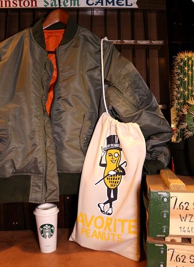 ミスターピーナッツスウェット巾着 レディーラックスウェットバッグ 巾着  MRPEANUT アメリカ雑貨屋 サンブリッヂ 通販