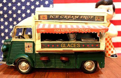ブリキカー ケータリングカー アイスクリーム オブジェ ガレージ トイ 通販 アメリカ雑貨屋 サンブリッヂ