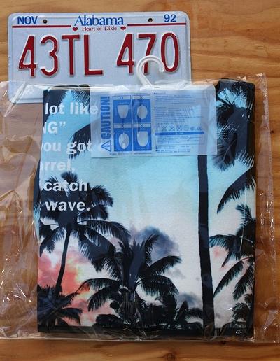 パームツリートイレカバーマット カリフォルニアスタイルトイレカバー ハワイアントイレカバー アメリカ雑貨屋 サンブリッヂ
