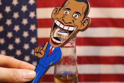 オバマボトルオープナー オバマ栓抜き アメリカ大統領グッズ アメリカ雑貨屋 サンブリッヂ