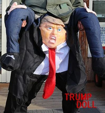 トランプ大統領 グッズ ドナルドトランプ 背負う コスチューム アメリカ雑貨屋   サンブリッヂ アメリカン雑貨通販