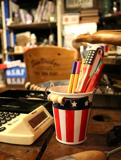 アメリカンバケツ アメリカミニバケツ 星条旗バケツ アメリカ雑貨屋 サンブリッヂ アメリカン雑貨 通販