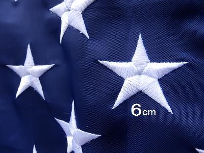刺繍星条旗 刺繍アメリカンフラッグ 星条旗 大きい星条旗 3Mアメリカフラッグ アメリカ雑貨屋 サンブリッヂ