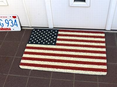 アメリカ玄関マット アメリカンマット 星条旗マット アメリカ雑貨屋 サンブリッヂ アメリカン雑貨 通販