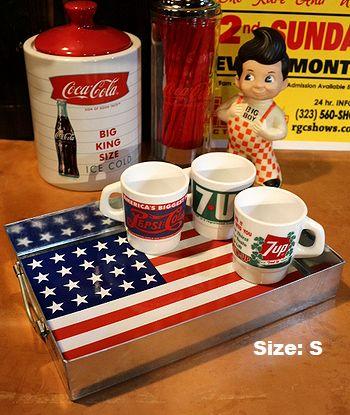 星条旗トレイ アメリカスチールトレー アメリカ看板通販 サンブリッヂ 通販商品