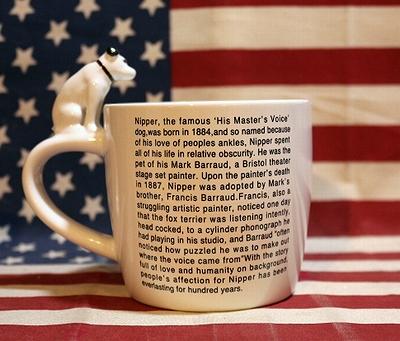 ビクターニッパー 立体マグカップ VICTOR NIPPER アメリカ雑貨屋 サンブリッヂ