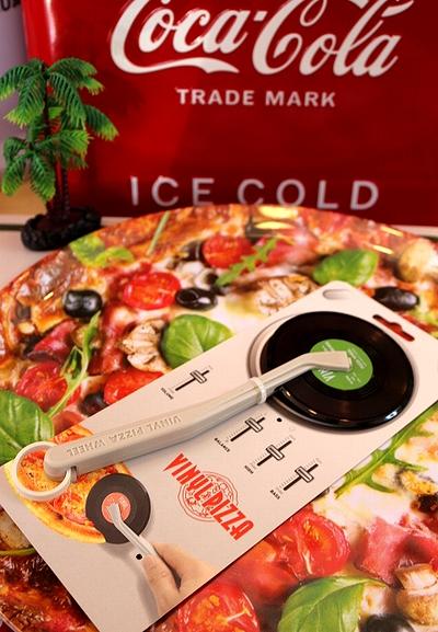 レコードピザカッター PIZZA雑貨  ピザカッター アメリカ雑貨屋 SUNBRIDGE