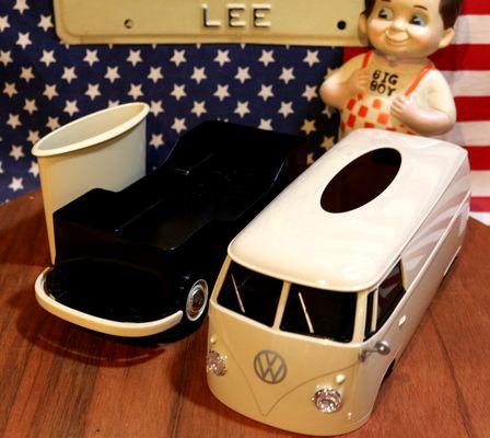 ワーゲンティッシュケース ワーゲンバス ティッシュカバー アイボリー アメリカン雑貨通販 アメリカ雑貨屋 サンブリッヂ