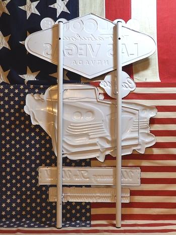 アメリカンウォールデコ看板ラスベガス エンボス加工 アメリカ雑貨屋 サンブリッヂ