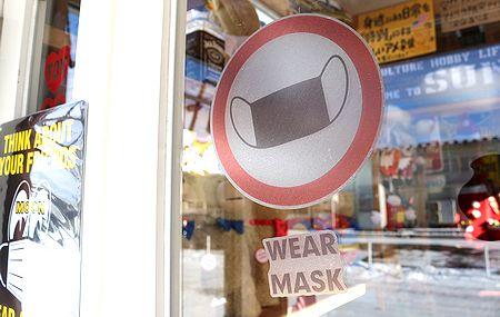 マスクステッカー 飛沫シテッカー 手洗いステッカー コロナ対策雑貨 アメリカ雑貨 通販 サンブリッヂ