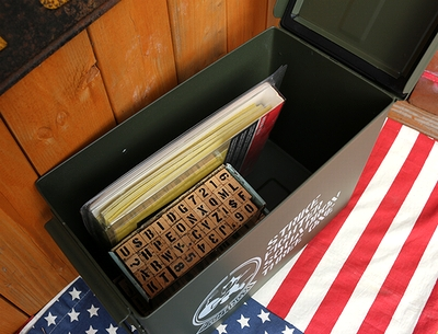 ステンシルアンモボックス フィリックス USアンモボックス ミリタリーボックス ミリタリー雑貨屋 サンブリッヂ アメリカン雑貨通販