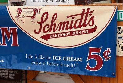 アイスクリームバナー ビッグバナー アイスクリーム サンブリッヂ アメリカン雑貨 通販