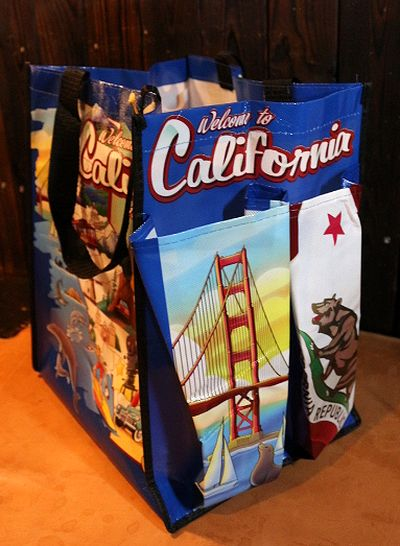 カリフォルニア エコバッグ California アメリカ メリカ雑貨屋 サンブリッヂ通販  通販商品
