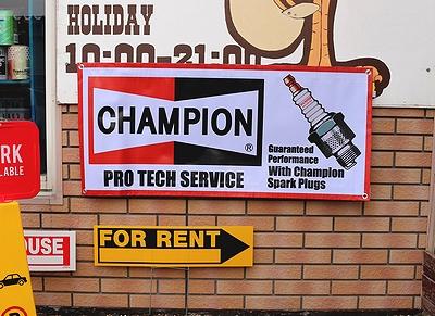 チャンピオンバナー アメリカンバナー ビニールバナー CHAMPION アメリカ雑貨屋サンブリッヂ SUNBRIDGE 岩手雑貨屋