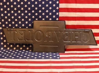 シボレー看板 エンボス看板 CHEVROLET アメリカン看板 アメリカ雑貨屋 SUNBRIDGE