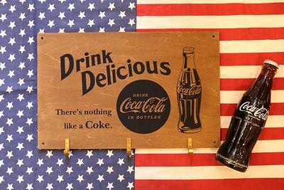 コカコーラ木製フックボード ウッドフックボード コカコーラ COCACOLA アメリカ雑貨通販 サンブリッヂ 通販商品
