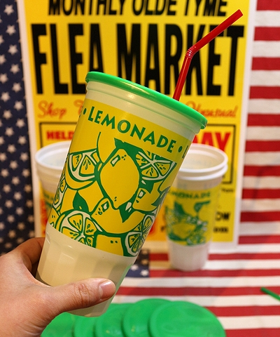 レモネード使い捨てカップ プラスチックカップ 6個セット LEMONADE アメリカ雑貨屋 SUNBRIDGE 岩手雑貨屋