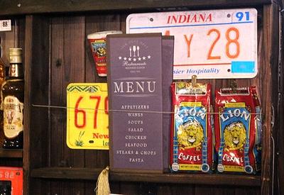 メニューデザインランチョンマット ランチマット カフェ小物 キッチン雑貨 アメリカ雑貨屋 サンブリッヂ 通販 通販商品