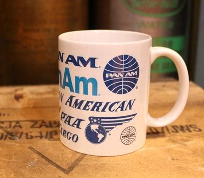 パンナムマグカップ PANNNAMマグカップ ブルーグローブマグカップ パンナム航空会社 アメリカ雑貨通販 アメリカ雑貨屋 サンブリッヂ